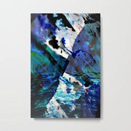 Black Ocean Currents Metal Print