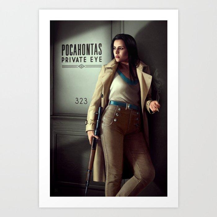 Pocahontas - Private Eye Kunstdrucke