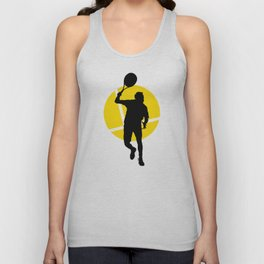 TENNIS Forehand Lines Unisex Tank Top