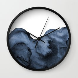 Watercolor Splash in Blue Wall Clock