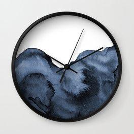 Watercolor Splash in Blue Wall Clock