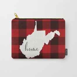 West Virginia is Home - Buffalo Check Plaid Carry-All Pouch