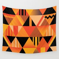 pumpkin Wall Tapestries featuring pumpkin by Gray