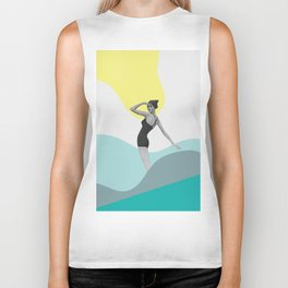 Swimmer Collage Biker Tank