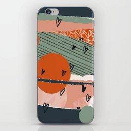 Paper Hearts iPhone Skin