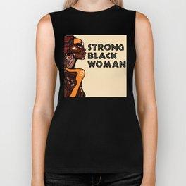 Strong Black Woman Shirt - Black History Month - Black Lives Matter Biker Tank