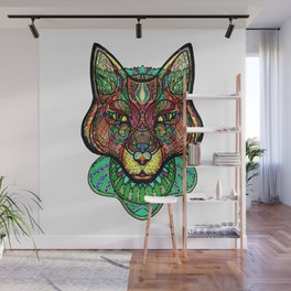 Psychedelic fox Wall Mural