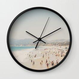 summer time in Santa Monica ... Wall Clock