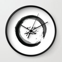 We are Infinite Wall Clock