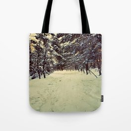 Wintery Snowshoe Hike Tote Bag