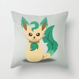 Evolution Bobbles - Leafeon Throw Pillow