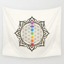 Flower of Life Chakra Healing Mandala Wall Tapestry