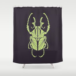Envious Beetle - Geometric Insect Design Shower Curtain