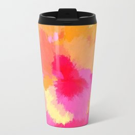 Pink, Orange and Yellow Watercolors Travel Mug