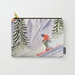 Skiing The Aspen Colorado Slopes Carry-All Pouch