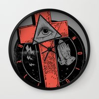 religion Wall Clocks featuring Religion by Tshirt-Factory