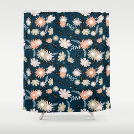 Marseille - Floral Pattern Shower Curtain