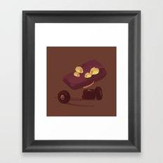 kind face car parts Framed Art Print