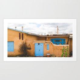 Desert Life in Turquoise Art Print
