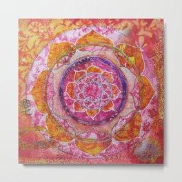 Creative Glow Mandala Metal Print