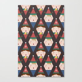 A Christmas Carol (Patterns Please) Canvas Print