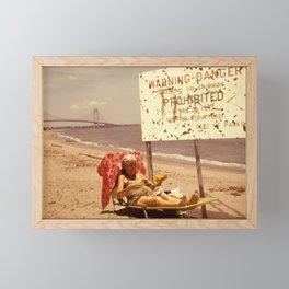 70s Retro Beach Baddie Grandma Framed Mini Art Print