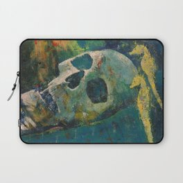Yellow Seahorses Laptop Sleeve