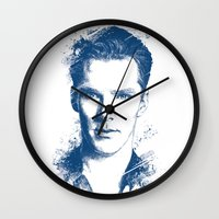 benedict cumberbatch Wall Clocks featuring Benedict Cumberbatch by Chadlonius