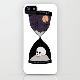 Time Forever Favours The Young iPhone Case