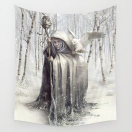 Witch of the White Wood Wall Tapestry