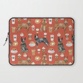 Australian Cattle Dog coffee pet friendly dog breed dog pattern art Laptop Sleeve