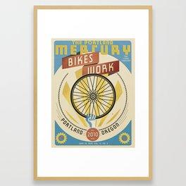 Portland Mercury Bike Issue cover  Framed Art Print