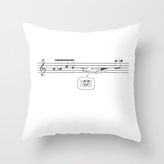 Who's Watching? Throw Pillow