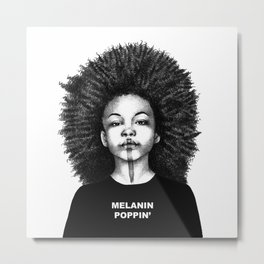 Melanin Poppin Metal Print
