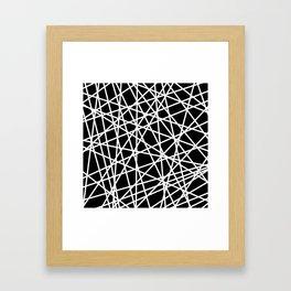 Lazer Dance B&W 1 Framed Art Print