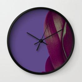 Ultra Violet Leaf Wall Clock