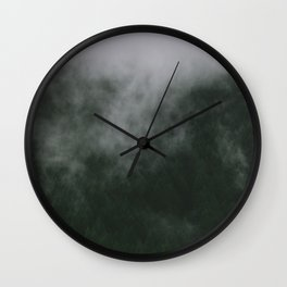 low clouds in Oregon Wall Clock