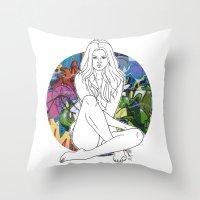 selena Throw Pillows featuring Selena by vllancourt