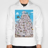 climbing Hoodies featuring Bubble climbing by Caiocomix
