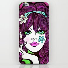 Psychedelic Flower Child iPhone & iPod Skin