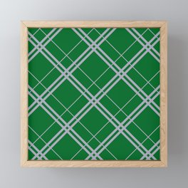 Slytherin Argyle Framed Mini Art Print
