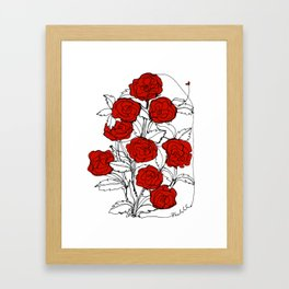 Bouquet of Roses (a Continuous Line Drawing) Framed Art Print