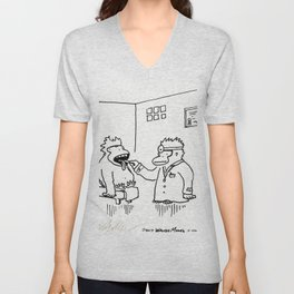 Ailing Ape Visits the Ape Doctor Unisex V-Neck