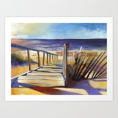 Oval Beach Art Print