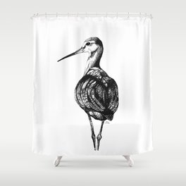 Redshank Shower Curtain