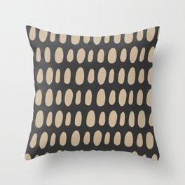 Brush Strokes Gold Throw Pillow