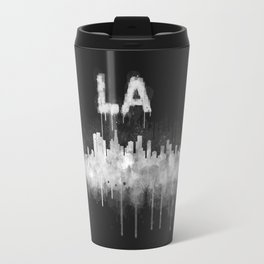 Los Angeles City Skyline HQ v5 WB Travel Mug