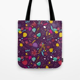 purple seeds Tote Bag