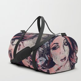 Ruined Our Everything: Red (graffiti flower lady portrait) Duffle Bag