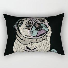 Ares The Pug II Rectangular Pillow